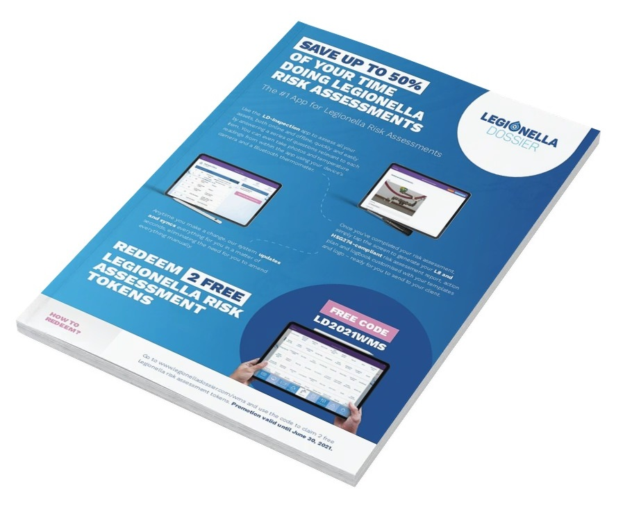 save 50 on legionella risk assessments